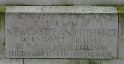 The inscription at the base of rear of the memorial include the quote from Ecclesiaticus.