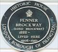 Image for Fenner Brockway - Myddelton Square, London, UK