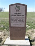 Image for Entering Indian Territory OK