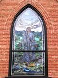 Image for Jesus in window of Presbyterian Church - American Fork, Utah