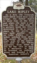 Image for Lake Ripley Historical Marker