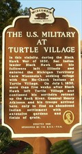 Image for Black Hawk/U.S. Military at Turtle Village Historical Marker
