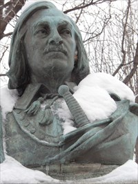 Le Buste De Pierre Le Gardeur de Repentigny.  The Bust Pierre Le Gardeur de Repentigny.