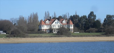 ...the Manor House from the Blackwater. I was cruising on a Thames Sailing Barge from Maldon past the island.