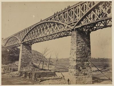 From the Library of Congress: The original bridge built under the supervision of Herman Haupt