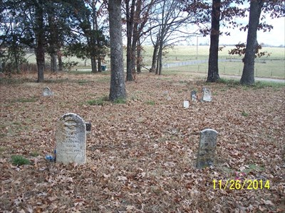 Garrison Cemetery, by MountainWoods.  Note the lone distant grave to the left out by the road.  It is the only grave there by itself.  The others are all within a shorter distance.