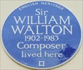 Image for Sir William Walton - Lowndes Place, London, UK