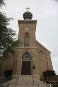 Image for Temp. Capitol bricks & UT's Old Main doors -- Gethsemane Church, Austin TX