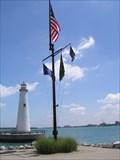 Image for William G. Milliken State Park Harbor Nautical Flag Pole - Detroit, MI.