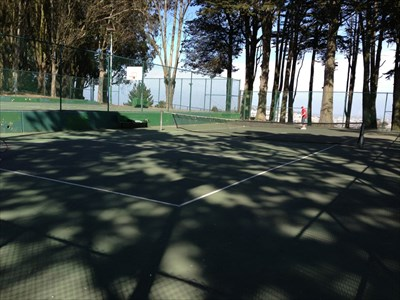 Holly Park Tennis Courts, Looking E, San Francisco, California