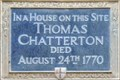 Image for Thomas Chatterton - Brooke Street, London, UK