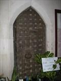 Image for Parish Alms Chest Door - All Saints Church, Filby, Norfolk, UK
