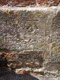 Image for Cut bench mark on gate post in Vicarage Street, Colyton, Devon