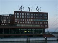 Image for Drei Windräder auf dem Dach - three windmills on the roof - Hamburg, Germany
