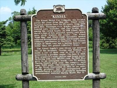 """Kissel"" Marker in Hartford."
