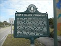Image for First Black Community