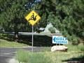 Image for Golf Cart Crossing Sign - South Jordan Utah