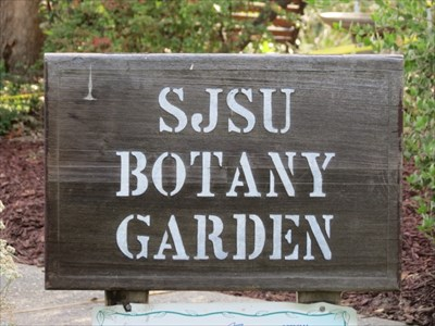 SJSU Botany Garden Sign, San Jose, CA