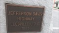 Image for Jefferson Davis Highway Marker 1926 - Leesville, South Carolina