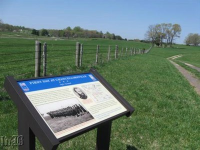As the Yankee regiments ran over the hill to the right, Union Gen. Hancock had moved in to help cover their retreat and than fell back.