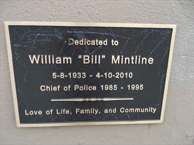 a plaque/ memorial