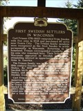 Image for First Swedish Settlers in Wisconsin Historical Marker