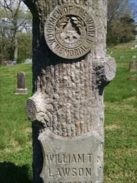 William T. Lawson WotW grave marker, by MountainWoods