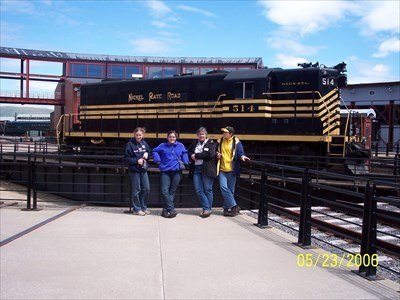 Steamtown National Historic Site roundtable by MountainWoods, along with my wife and 3 of our 4 kids.