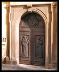 Image for Entry door into ambulatory of Minorite Monastery, Prague, Czech Republic