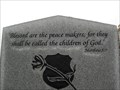 Image for Matthew 5:9 - Peace Officer Memorial - Sapulpa, OK