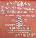 Image for Oatman, Arizona - Population (1918) 5000; (1968) 50