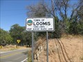 Image for Loomis, California Elevation Sign