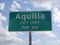 Image for Aquilla, TX - Population 109