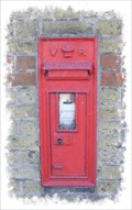 Image for Victorian Post Box - Canterbury Road, Wingham, Kent, UK