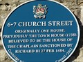 Image for 6-7 Church Street - Blue Plaque - Cowbridge, Vale of Glamorgan, Wales.