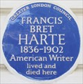 Image for Francis Bret Harte - Leinster Terrace, London, UK
