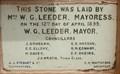 Image for 1899—Foundation Stone Toodyay Memorial Hall—Western Australia, Australia.
