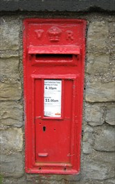 View of the post box.