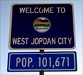 Image for West Jordan City, Utah-Population 101,671