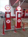 Image for Marathon Gas Pumps - Commerce, Oklahoma, USA.