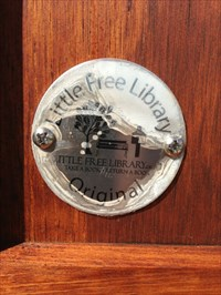 Little Free Library Emblem, Woosley Drive, San Jose, CA
