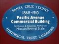 Image for Blue Plaque - Pacific Avenue Commercial Building