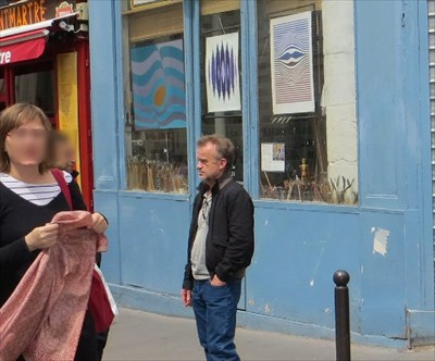 One of the actors in Amalie, Dominic Pinon was hanging out in Montmatre when I was there.