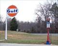 Image for Gulf Gasoline Pump & Sign near Lexington, NC