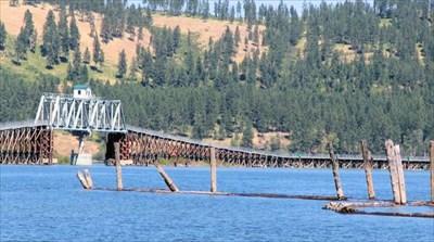 Bridge across Coeur d'Alene Lake at Chatcolet.