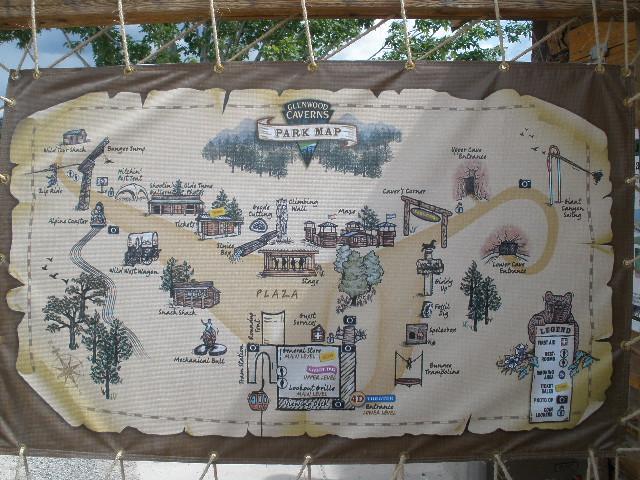 Map Of Glenwood Caverns Adventure Park