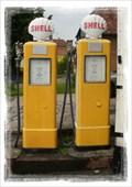 Image for Vintage Gasoline Pumps - Lenham Motor Company (England) - Harrietsham, Kent, England.