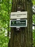 Image for Elevation Sign - Lichtenstein stone, Czech Republic. 425m