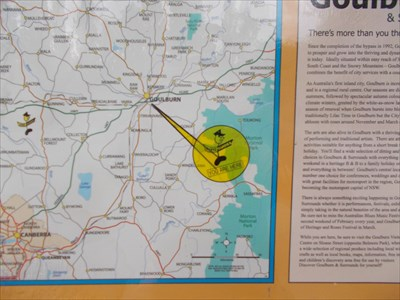 You Are Here Thomas Derrick VC Rest Area Towrang NSW You Are
