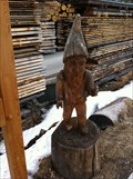 Image for Wooden Dwarf near the wood processing facility - Bergün, GR, Switzerland